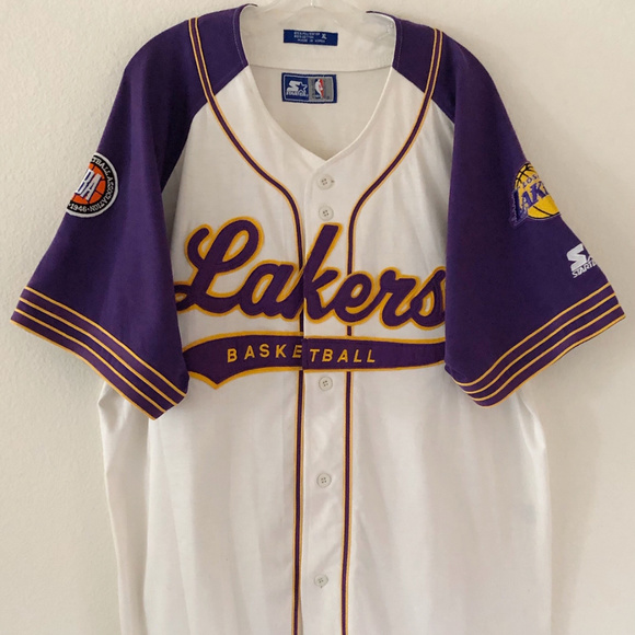 Starter NBA Los Angeles Lakers Button Front XL